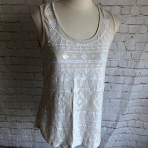 Chico's Sequin Tank Top Size 0 XS